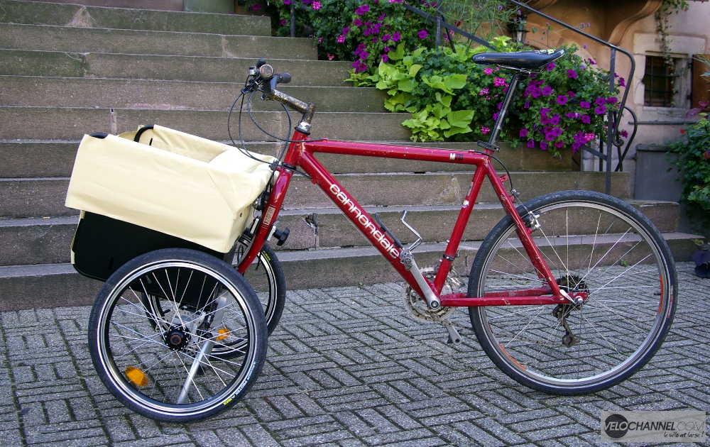 profil gauche d'un vélo avec son Addbike