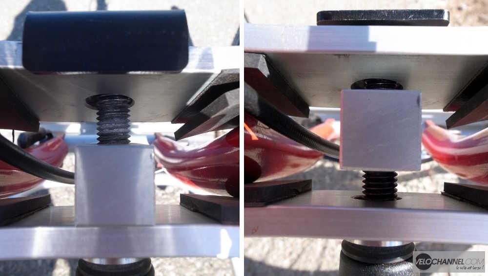 photos jumelées des positions sur le filetage de la fixation Addbike