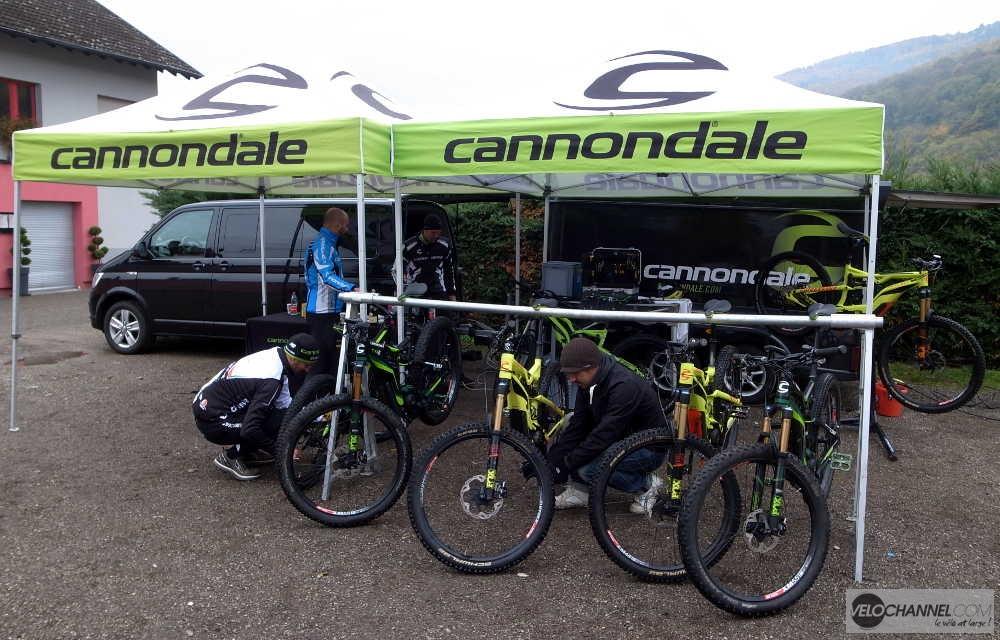 stand Cannondale du Moterra Demo Tour à Colmar