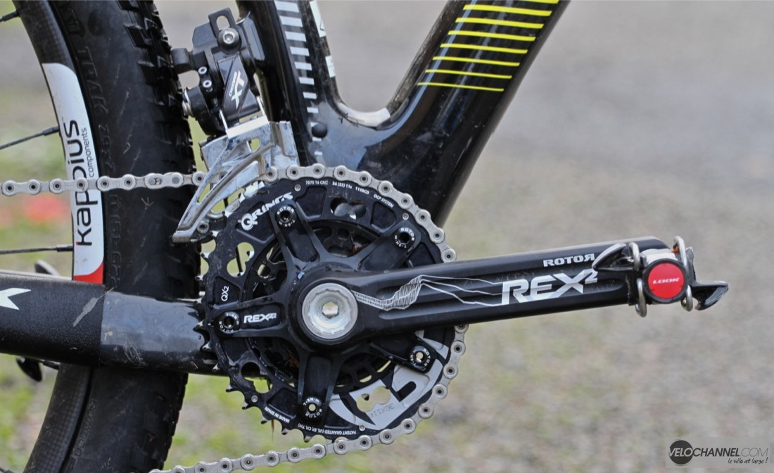 pedalier-rotor-rex-2-qring-derailleur-avant-shimano-deore xt