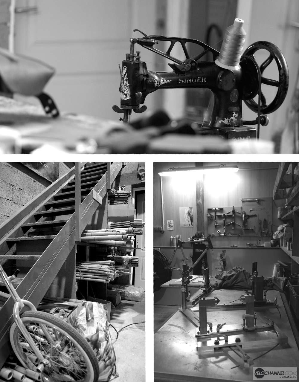 machine Singer, bambou et marbre chez in'bô