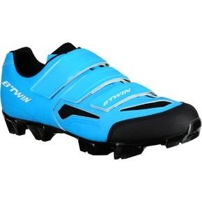 chaussures-btwin-vtt-500-bleu