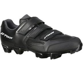 chaussures-vtt-btwin-500-noir-blanc