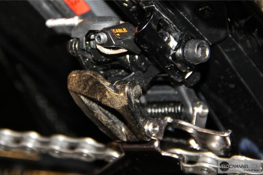 derailleur-avant-duraace-réglage-tension-cable