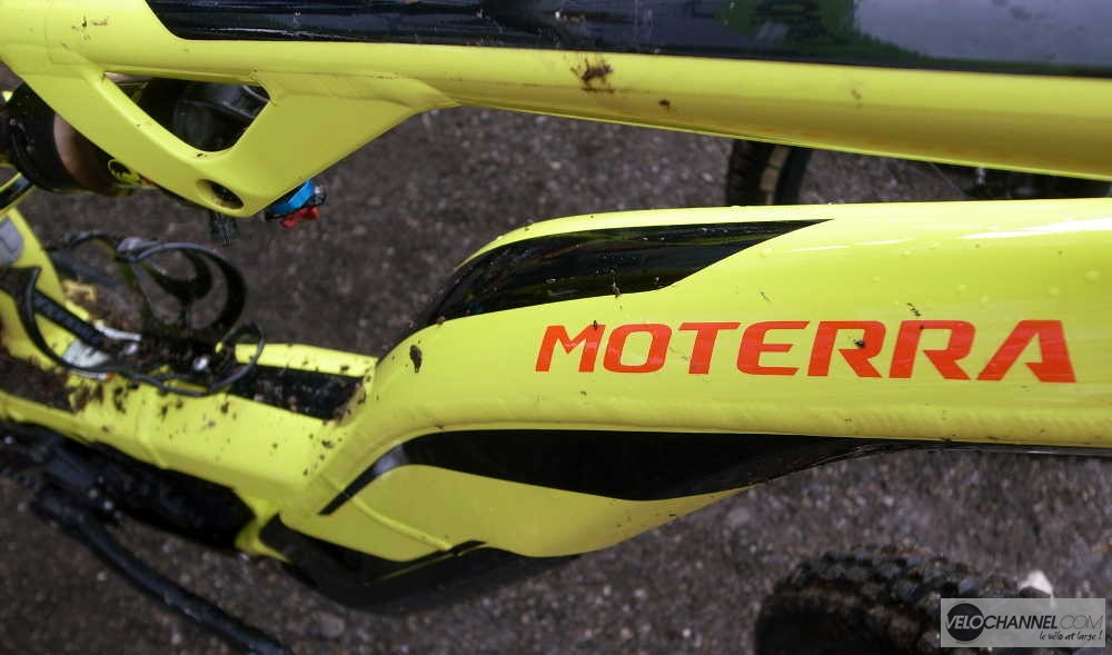 tube diagonal Torsion Box Cannondale Moterra jaune