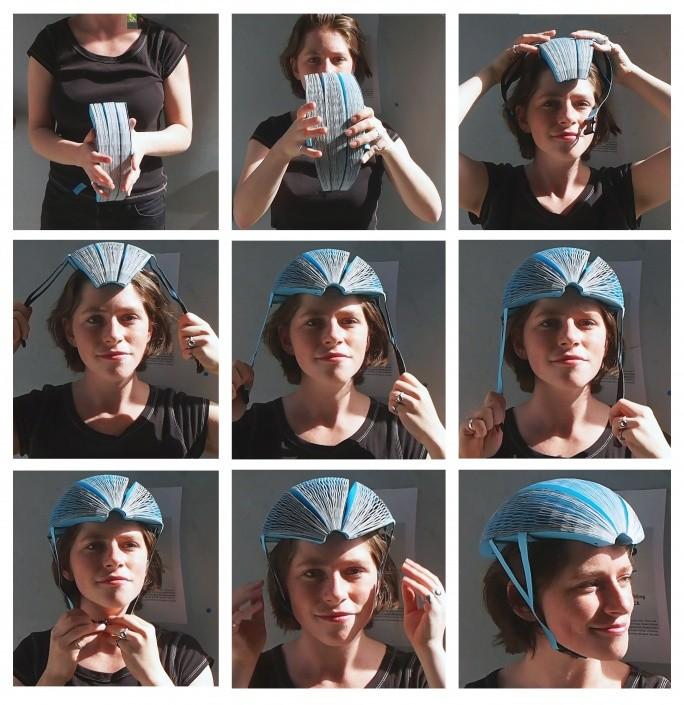 Démonstration en images du casque Ecohelmet