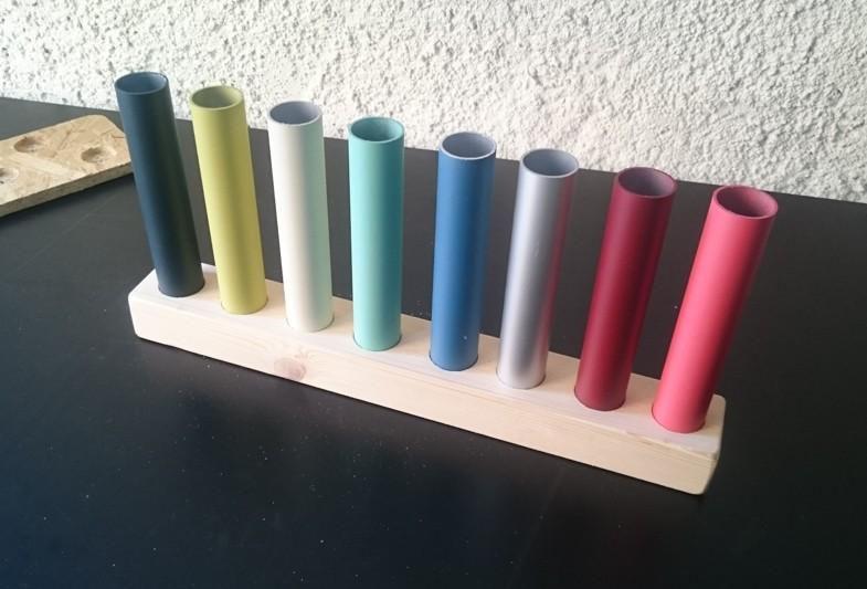 tubes aux différents coloris disponibles pour l'Orbea katu 20