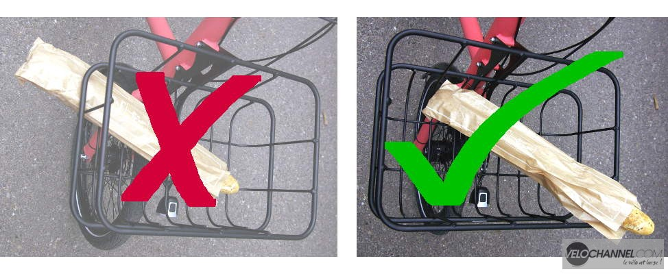 garder son pain dans le panier de son vélo