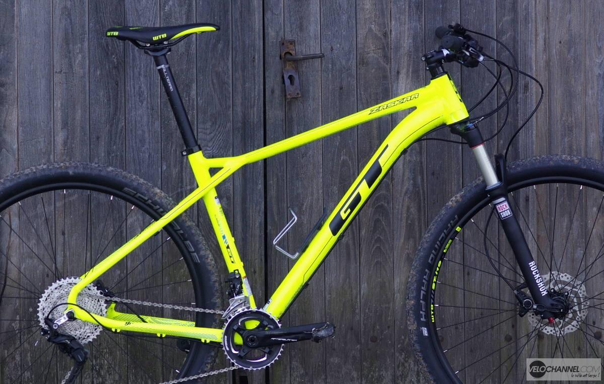 cadre du vtt GT Zaskar 9r jaune fluo