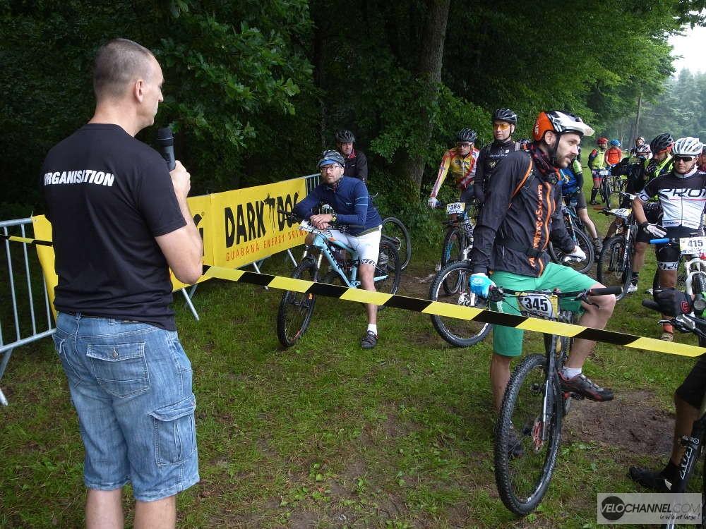 consignes de courtoisie et de sécurité avant le départ de l'Elsass Bike 2017