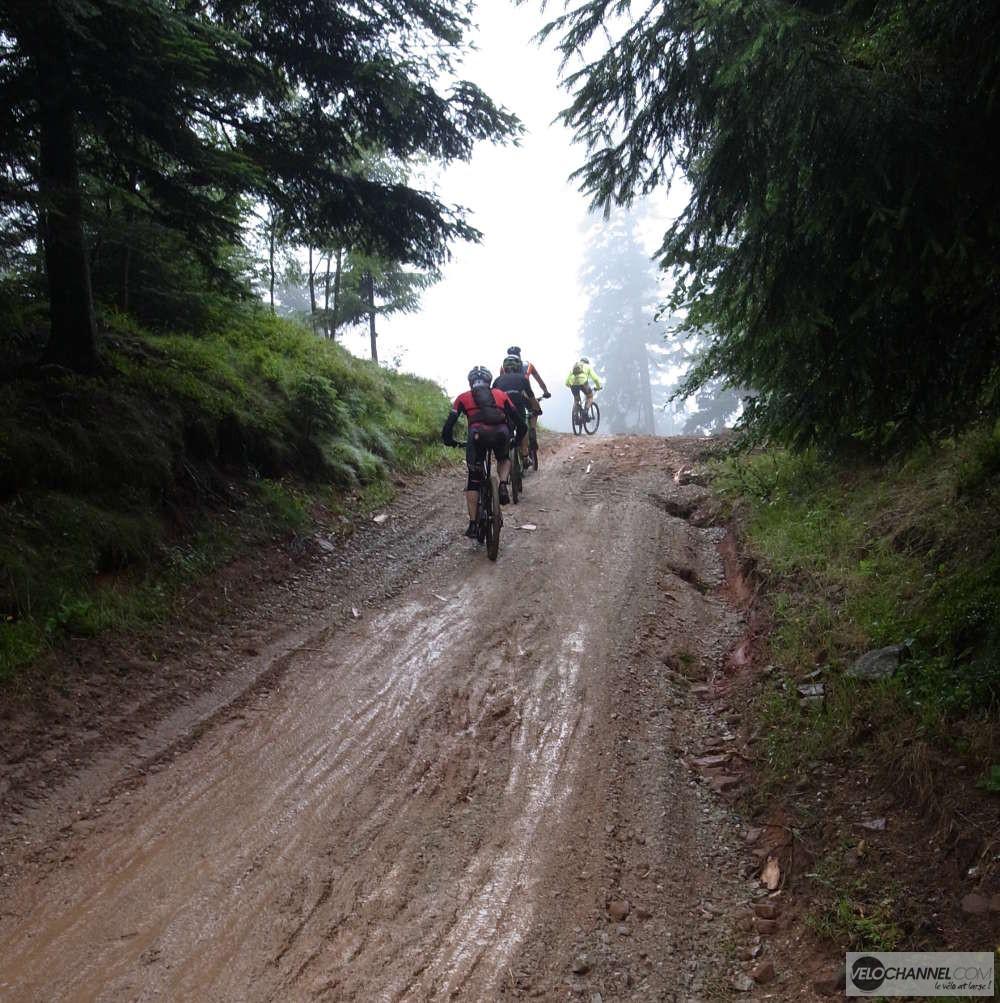 humidité et brouillard le matin sur l'Elsass Bike 2017