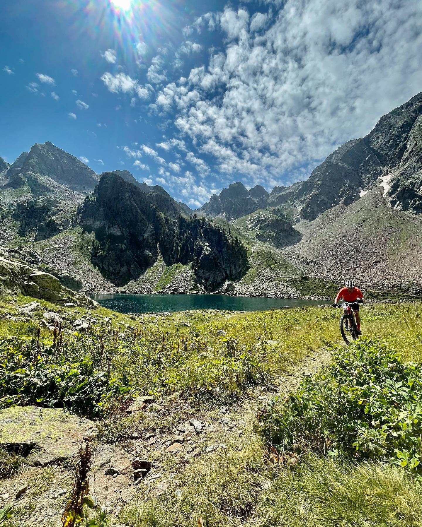lac sur la première étape Ironbike 2021