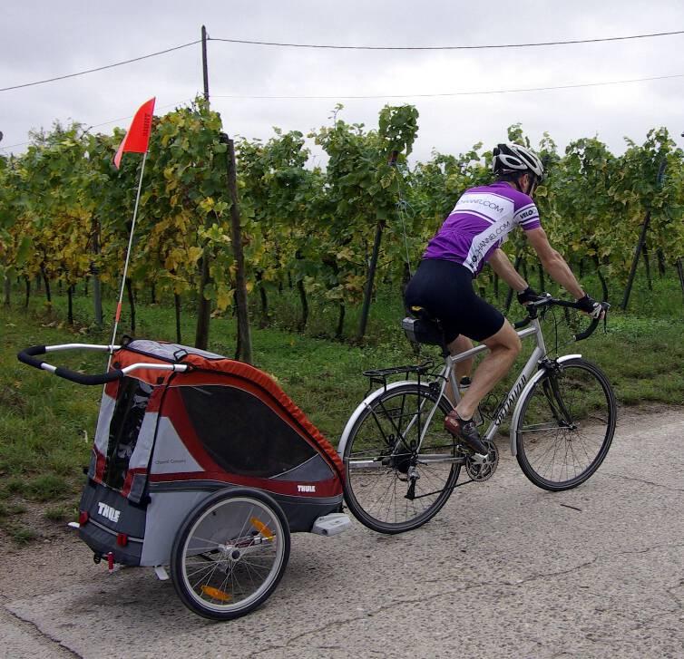 vélot et remorque